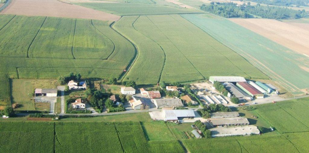 vue aérienne sur le Pontreau