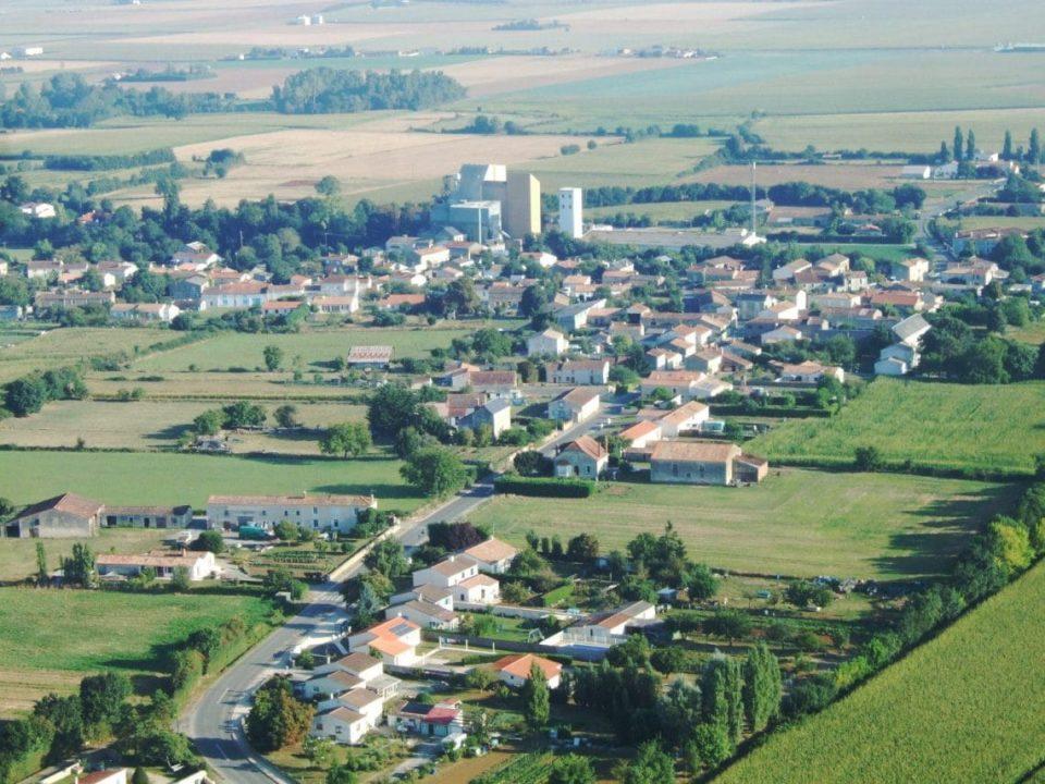 vue aérienne sur la Porte-de-l'ile