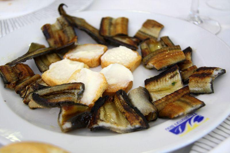 plat d'anguilles fricassées