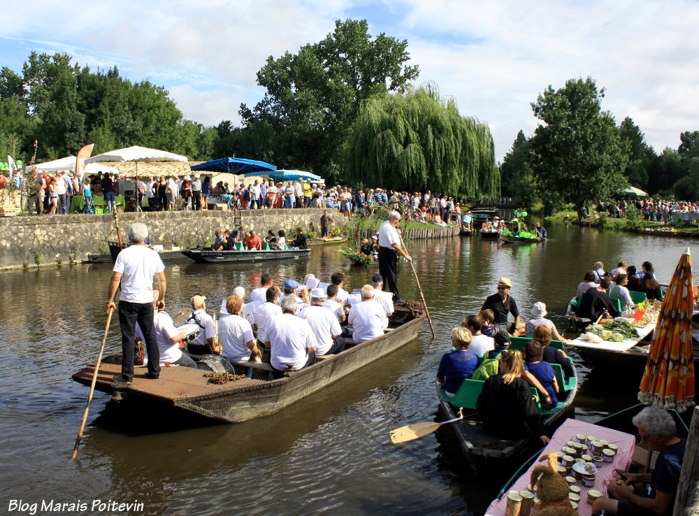 barques marais poitevin marché sur l'eau