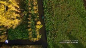 Arte Invitation au voyage Marais Poitevin barque labyrinthe