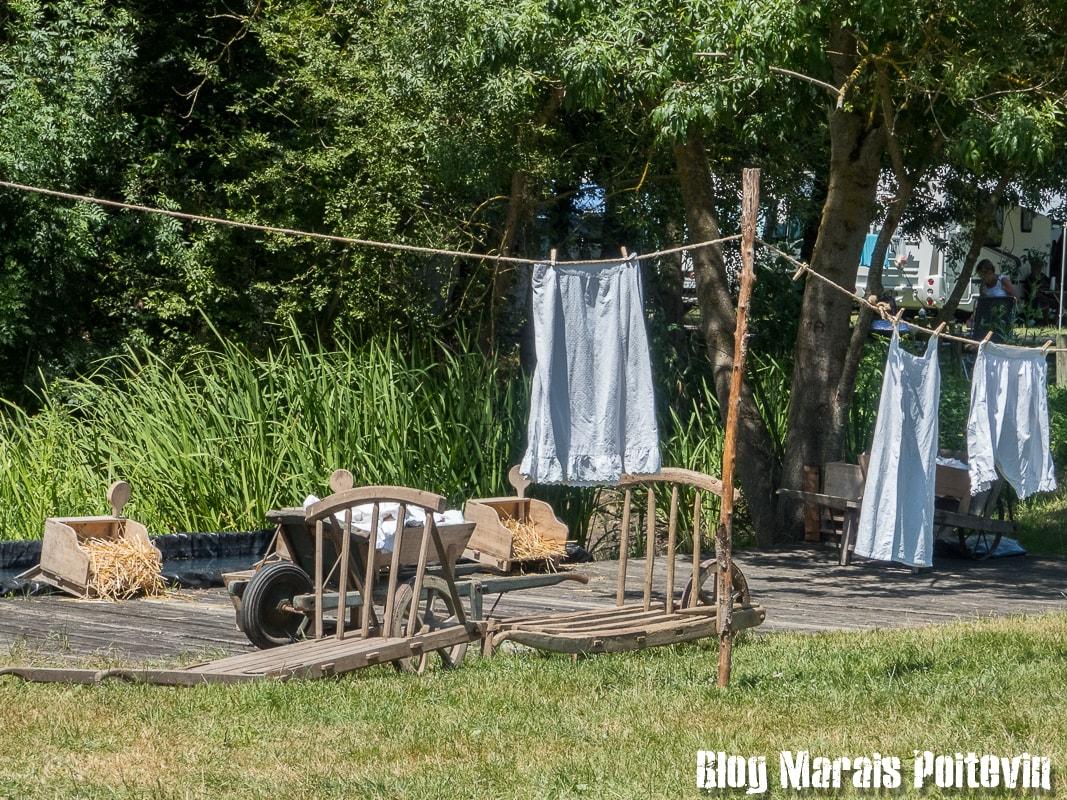 Fete du mijet coulon juillet 2018 lessive ancienne marais poitevin - 8
