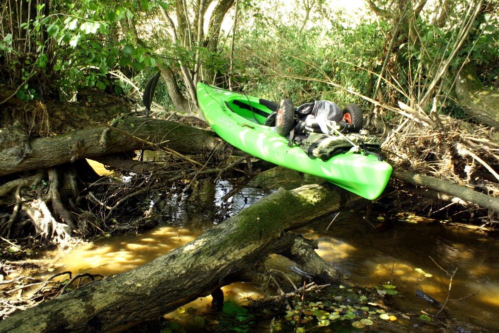 Passage encombrée sur la rivière Vendée