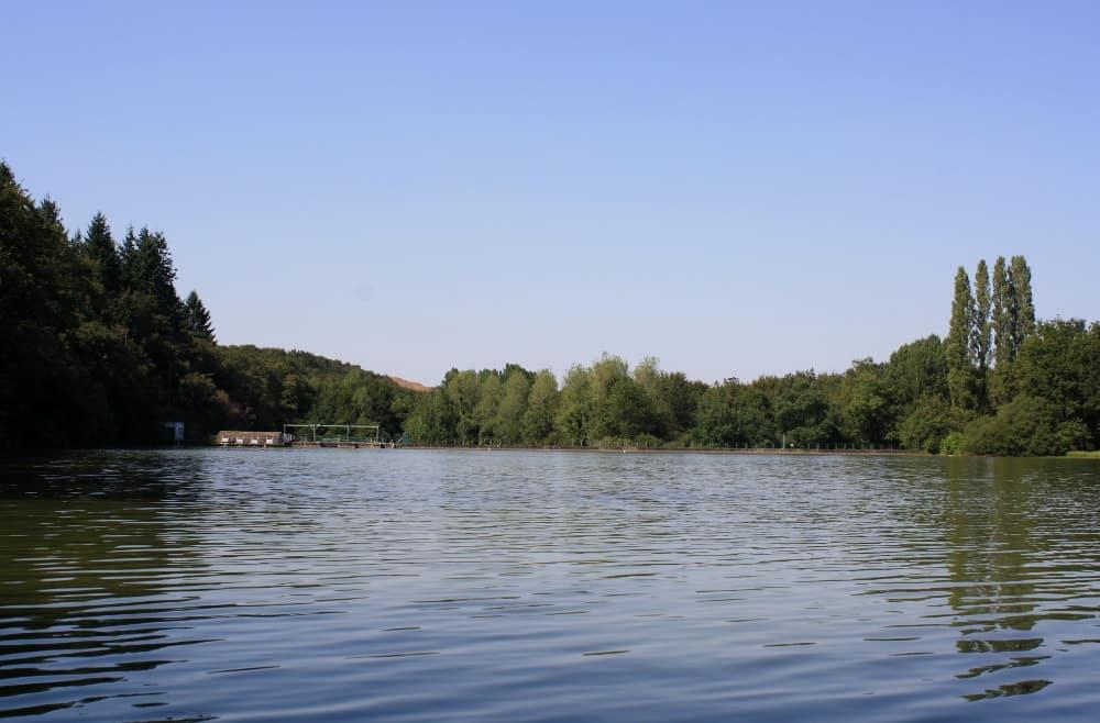 Arrivée sur le barrage d'Albert forêt de Mervent