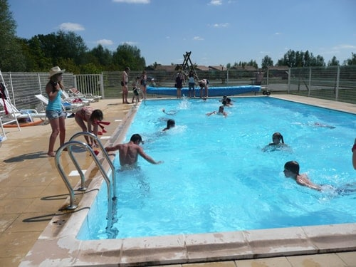 Piscine chauffée camping ile cariot