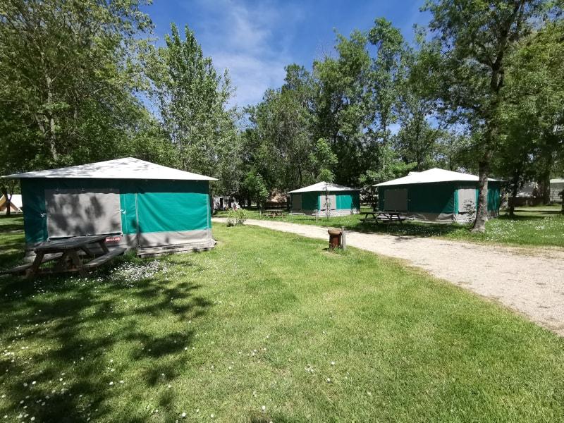 bungalow toilé camping le lidon marais poitevin