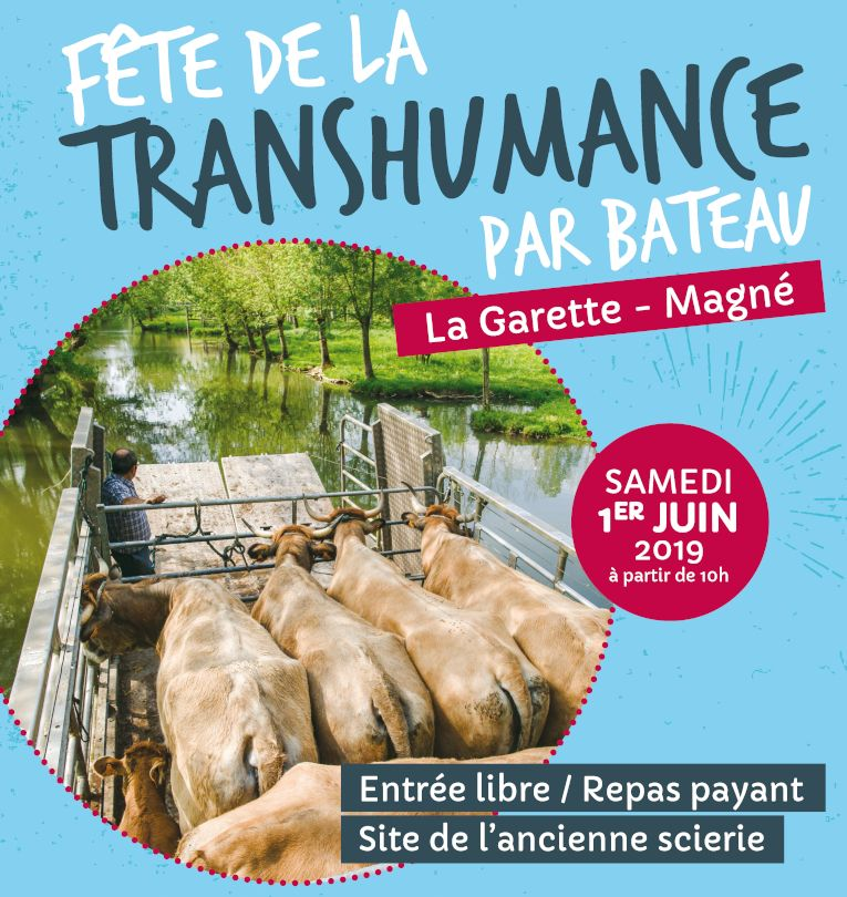 miniature-Affiche-Fete-transhumance-bateau-vaches-la-garette-juin-2019 marais poitevin