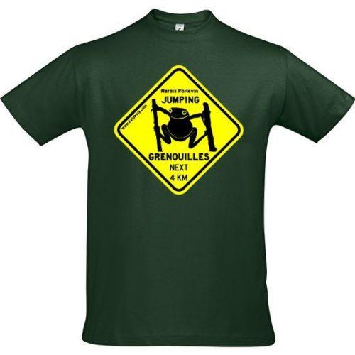 tee shirt jumping grenouille marais poitevin vert